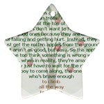 Girls Are Like Apples Star Ornament Front