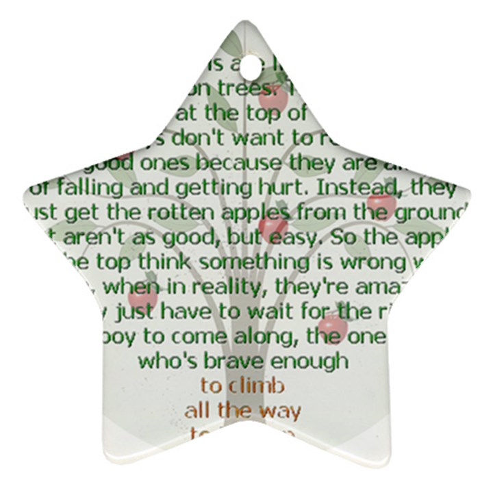 Girls Are Like Apples Star Ornament