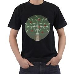 Girls Are Like Apples Men s Two Sided T-shirt (Black)