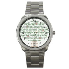 Girls Are Like Apples Sport Metal Watch