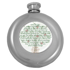 Girls Are Like Apples Hip Flask (round)