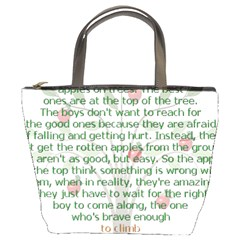 Girls Are Like Apples Bucket Handbag