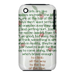 Girls Are Like Apples Apple Iphone 3g/3gs Hardshell Case (pc+silicone)