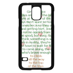 Girls Are Like Apples Samsung Galaxy S5 Case (Black)