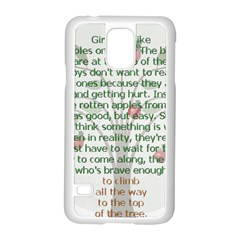 Girls Are Like Apples Samsung Galaxy S5 Case (White)