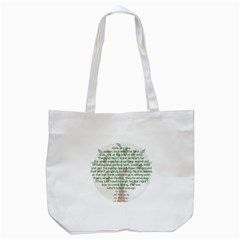 Girls Are Like Apples Tote Bag (white)