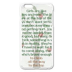 Girls Are Like Apples Apple iPhone 6 Plus Enamel White Case