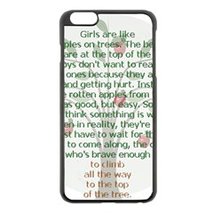 Girls Are Like Apples Apple iPhone 6 Plus Black Enamel Case