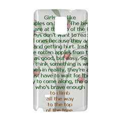 Girls Are Like Apples Samsung Galaxy Note 4 Hardshell Case