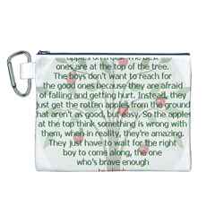 Girls Are Like Apples Canvas Cosmetic Bag (Large)