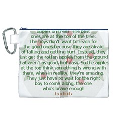 Girls Are Like Apples Canvas Cosmetic Bag (XL)