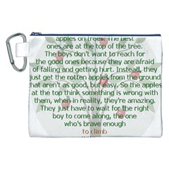 Girls Are Like Apples Canvas Cosmetic Bag (XXL)
