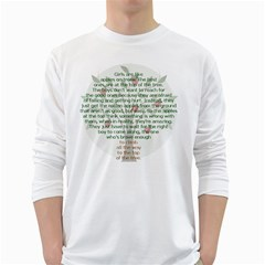 Appletree Men s Long Sleeve T-shirt (White)