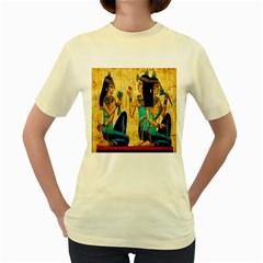 Egyptian Queens Women s T-shirt (Yellow)