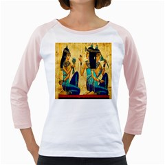 Egyptian Queens Women s Long Cap Sleeve T Shirt (white)