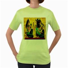 Egyptian Queens Women s T Shirt (green)