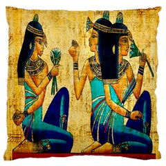 Egyptian Queens Large Flano Cushion Case (One Side)