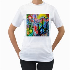 The Sixties Women s Two-sided T-shirt (White)