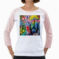The Sixties Women s Long Cap Sleeve T Shirt (white)