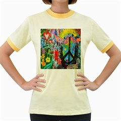 The Sixties Women s Ringer T Shirt (colored)