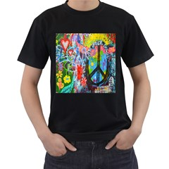 The Sixties Men s Two Sided T-shirt (Black)