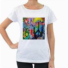 The Sixties Women s Loose-Fit T-Shirt (White)