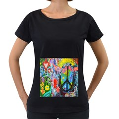 The Sixties Women s Loose-Fit T-Shirt (Black)