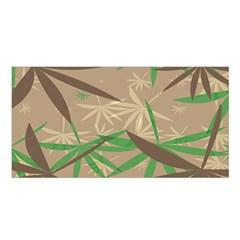 Leaves Satin Shawl