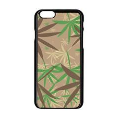 Leaves Apple Iphone 6 Black Enamel Case