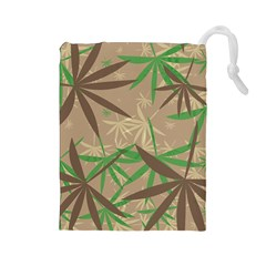 Leaves Drawstring Pouch