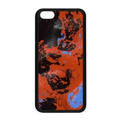 Orange blue black texture Apple iPhone 5C Seamless Case (Black)