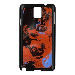 Orange blue black texture Samsung Galaxy Note 3 N9005 Case (Black)