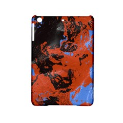 Orange blue black texture Apple iPad Mini 2 Hardshell Case