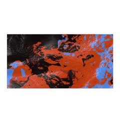 Orange blue black texture Satin Wrap