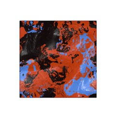 Orange blue black texture Satin Bandana Scarf
