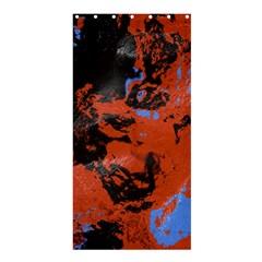 Orange Blue Black Texture shower Curtain 36  X 72