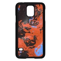 Orange blue black texture Samsung Galaxy S5 Case