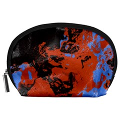 Orange blue black texture Accessory Pouch