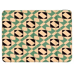 Brown green rectangles pattern Samsung Galaxy Tab 7  P1000 Flip Case