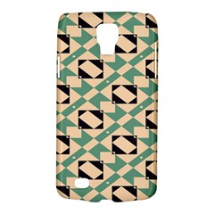 Brown Green Rectangles Pattern Samsung Galaxy S4 Active (i9295) Hardshell Case