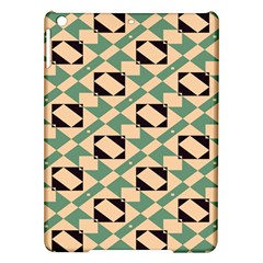 Brown green rectangles pattern Apple iPad Air Hardshell Case
