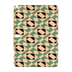 Brown Green Rectangles Pattern Samsung Galaxy Note 10 1 (p600) Hardshell Case