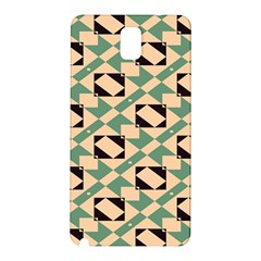 Brown green rectangles pattern Samsung Galaxy Note 3 N9005 Hardshell Back Case