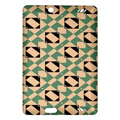 Brown Green Rectangles Pattern Kindle Fire Hd (2013) Hardshell Case