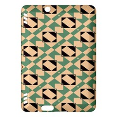 Brown green rectangles pattern Kindle Fire HDX Hardshell Case