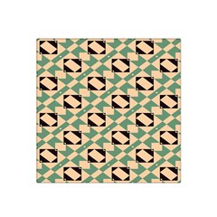Brown green rectangles pattern Satin Bandana Scarf