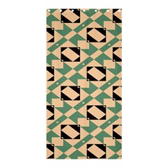 Brown green rectangles pattern 	Shower Curtain 36  x 72