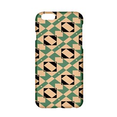 Brown green rectangles pattern Apple iPhone 6 Hardshell Case