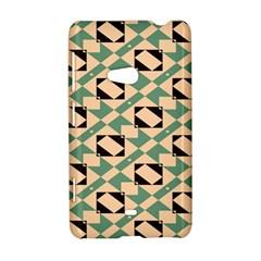 Brown green rectangles pattern Nokia Lumia 625 Hardshell Case