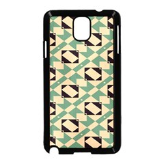Brown green rectangles pattern  Samsung Galaxy Note 3 Neo Hardshell Case